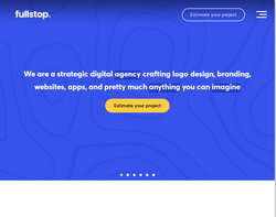 Screenshot of the FullStop® homepage