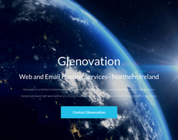 Screenshot of the Glenovation Internet Services homepage