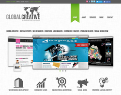 Screenshot of the Global Creative homepage