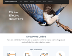 Screenshot of the Global Web Limited homepage