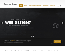 Screenshot of the Goldmine Design homepage