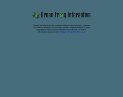Screenshot of the Green Frog Interactive homepage