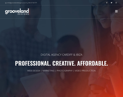 Screenshot of the Grooveland Designs homepage