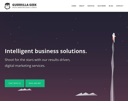 Screenshot of the Guerrilla Geek homepage
