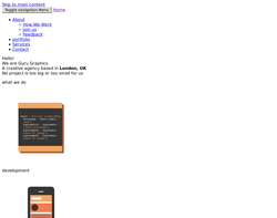 Screenshot of the Guru Graphics Ltd homepage
