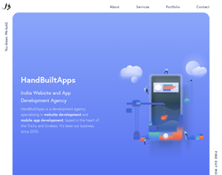Screenshot of the HandBuiltApps homepage