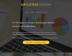 Screenshot of the HAYLEYEM.DESIGN homepage