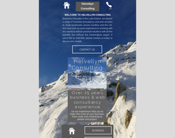 Screenshot of the Helvellyn Consulting homepage
