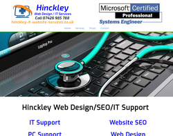 Screenshot of the Hinckley IT Services - Matt homepage