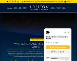 Screenshot of the Horizon Creative Media homepage