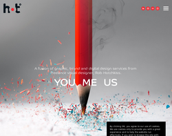 Screenshot of the Hot Creative homepage