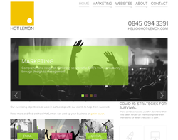 Screenshot of the Hot Lemon homepage