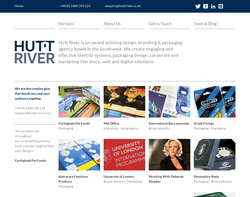 Screenshot of the Hutt River Design homepage
