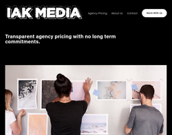 Screenshot of the IAK Media homepage