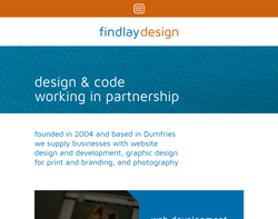 Screenshot of the Ian Findlay Design homepage
