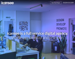 Screenshot of the icansee Web Design Ltd homepage