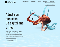 Screenshot of the The iCentric Agency homepage
