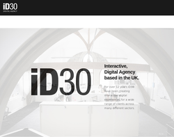Screenshot of the ID30 Ltd  homepage
