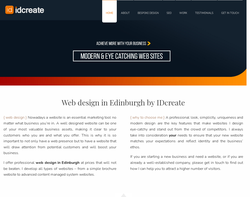 Screenshot of the IDcreate Edinburgh homepage