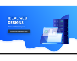 Screenshot of the Ideal Web Designs homepage