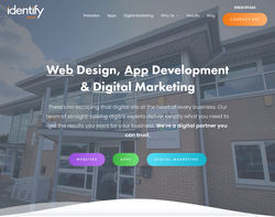 Screenshot of the Identify Web Design homepage