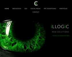 Screenshot of the illogic homepage