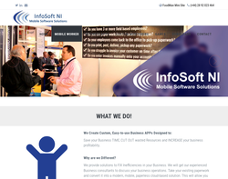 Screenshot of the InfoSoft NI homepage