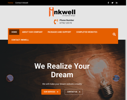 Screenshot of the Inkwell Conceptual Design homepage