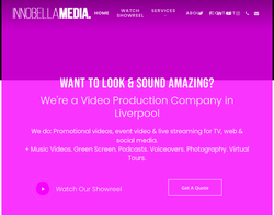 Screenshot of the Innobella Media homepage
