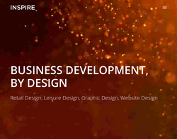 Screenshot of the Inspire Design Consultancy homepage