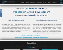 Screenshot of the jpcreativevision.co.uk homepage