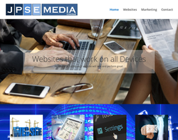 Screenshot of the JPSE Media Limited homepage