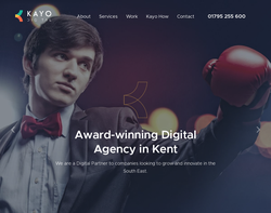 Screenshot of the Kayo Digital homepage