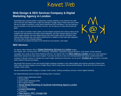 Screenshot of the Kennet Web homepage