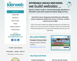 Screenshot of the Kierweb homepage