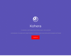 Screenshot of the Kohera Limited homepage