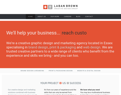 Screenshot of the Laban Brown Design homepage