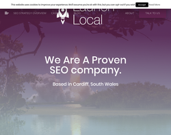 Screenshot of the Launch Local - Kristian Harris homepage
