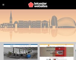 Screenshot of the Leicester Websites homepage
