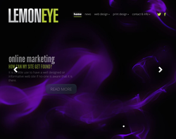 Screenshot of the Lemoneye homepage