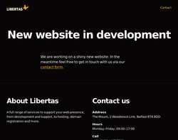 Screenshot of the Libertas Solutions Ltd homepage