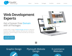 Screenshot of the LineDot Web Design homepage