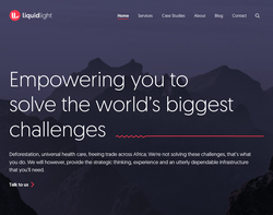 Screenshot of the Liquid Light Digital Ltd homepage