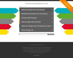 Screenshot of the London Web Designers ltd homepage
