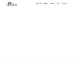 Screenshot of the LTR10 Creative homepage