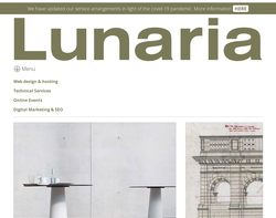 Screenshot of the Lunaria Design homepage