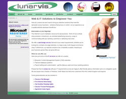 Screenshot of the Lunarvis homepage