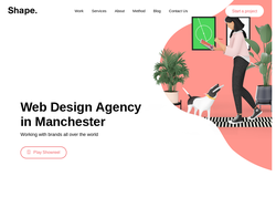 Screenshot of the Shape Design Studio homepage