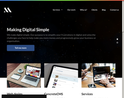 Screenshot of the Made Simple Media homepage