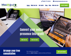 Screenshot of the Make Me Local homepage